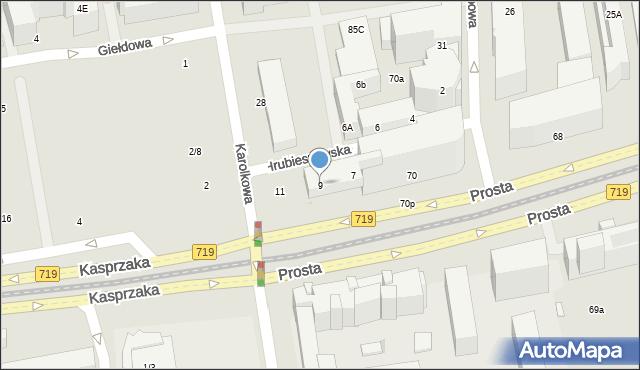 Warszawa, Hrubieszowska, 9, mapa Warszawy