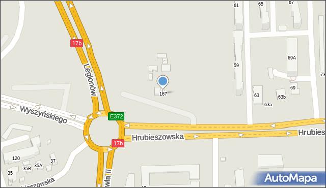 Zamość, Hrubieszowska, 167, mapa Zamościa