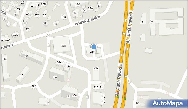 Zamość, Hrubieszowska, 50, mapa Zamościa