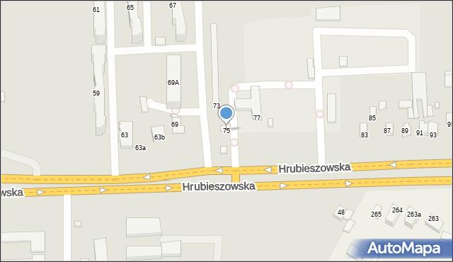 Zamość, Hrubieszowska, 75, mapa Zamościa