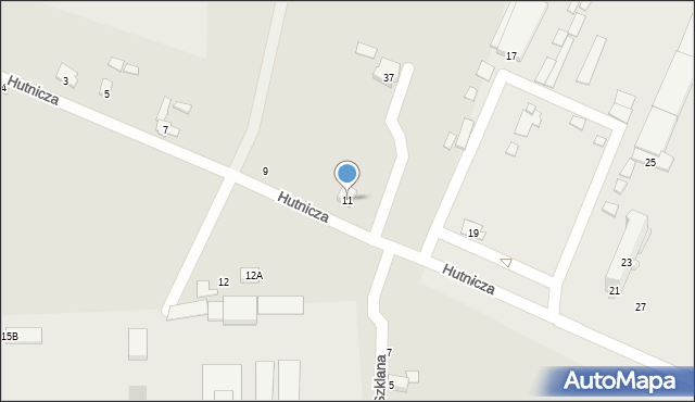 Chełm, Hutnicza, 11, mapa Chełma