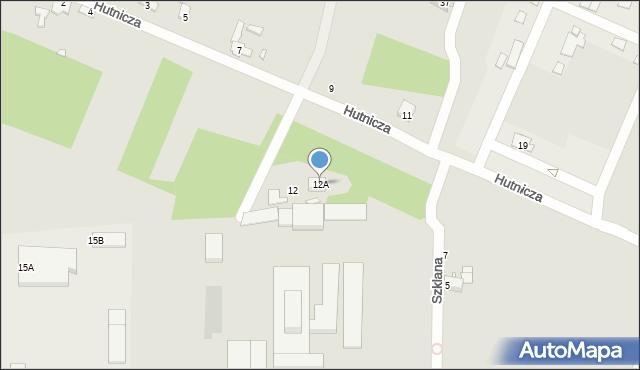 Chełm, Hutnicza, 12A, mapa Chełma