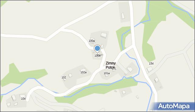 Huta Brzuska, Huta Brzuska, 100b, mapa Huta Brzuska