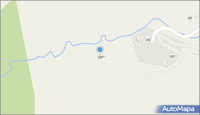 Huta Brzuska, Huta Brzuska, 103, mapa Huta Brzuska