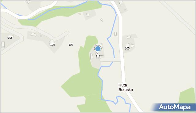 Huta Brzuska, Huta Brzuska, 111, mapa Huta Brzuska