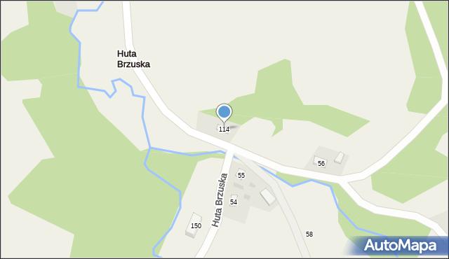 Huta Brzuska, Huta Brzuska, 114, mapa Huta Brzuska
