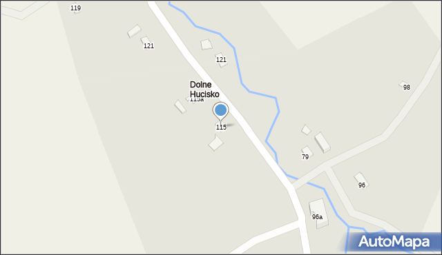 Huta Brzuska, Huta Brzuska, 115, mapa Huta Brzuska
