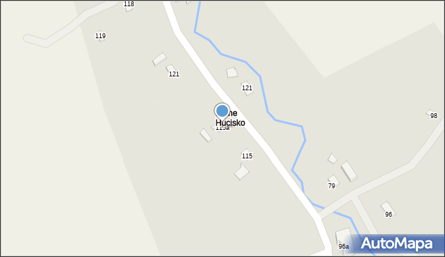 Huta Brzuska, Huta Brzuska, 115a, mapa Huta Brzuska