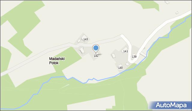 Huta Brzuska, Huta Brzuska, 142, mapa Huta Brzuska