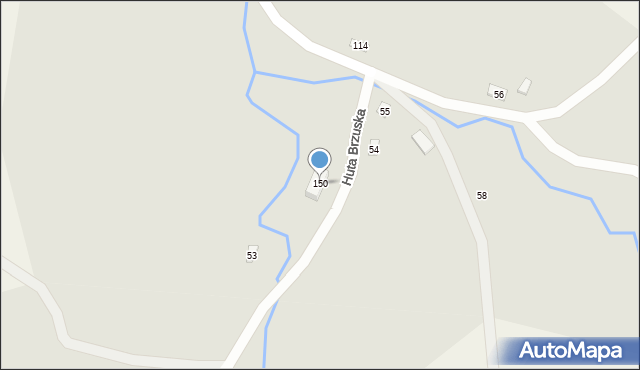 Huta Brzuska, Huta Brzuska, 150, mapa Huta Brzuska