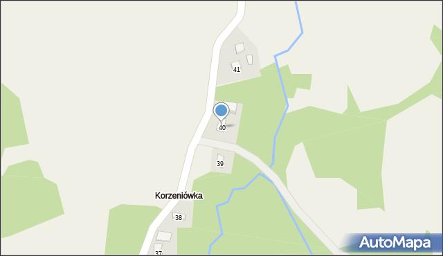 Huta Brzuska, Huta Brzuska, 40, mapa Huta Brzuska