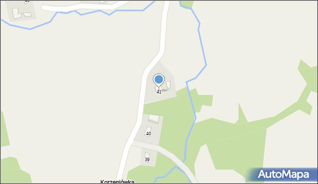 Huta Brzuska, Huta Brzuska, 41, mapa Huta Brzuska