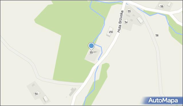 Huta Brzuska, Huta Brzuska, 53, mapa Huta Brzuska