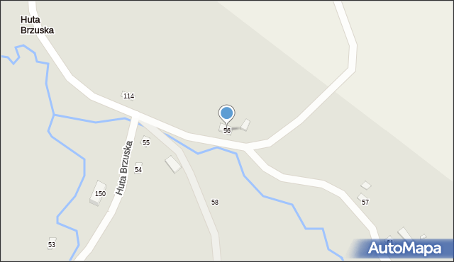 Huta Brzuska, Huta Brzuska, 56, mapa Huta Brzuska