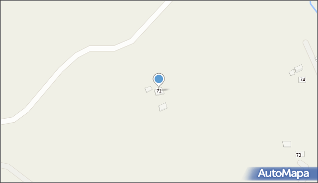 Huta Brzuska, Huta Brzuska, 71, mapa Huta Brzuska