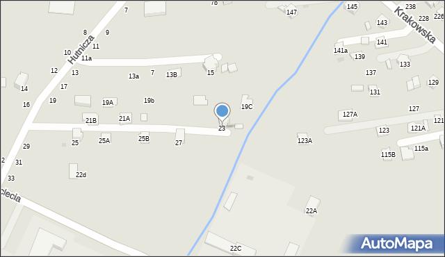 Krosno, Hutnicza, 23, mapa Krosna