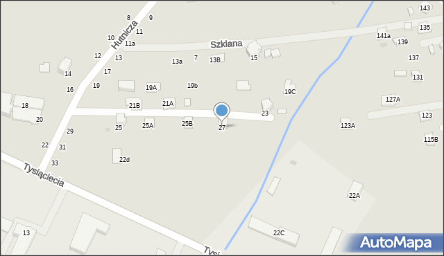 Krosno, Hutnicza, 27, mapa Krosna