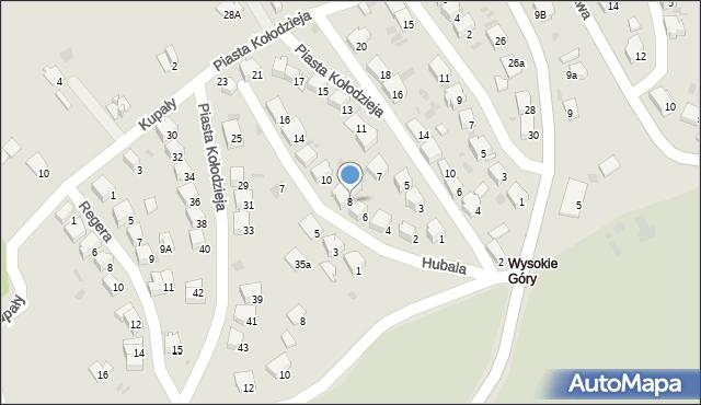 Przemyśl, Hubala Henryka, mjr., 8, mapa Przemyśla