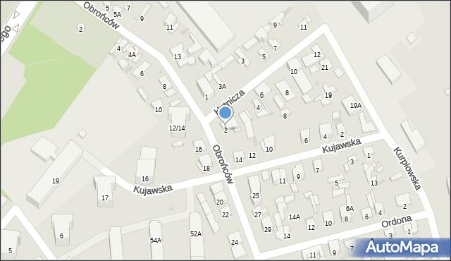Radom, Hutnicza, 2, mapa Radomia