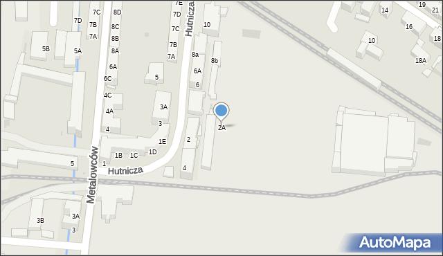 Świętochłowice, Hutnicza, 2A, mapa Świętochłowice