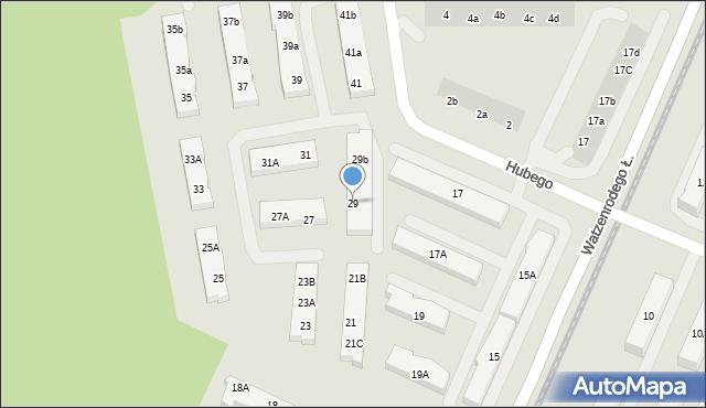 Toruń, Hubego Jana Michała, 29, mapa Torunia