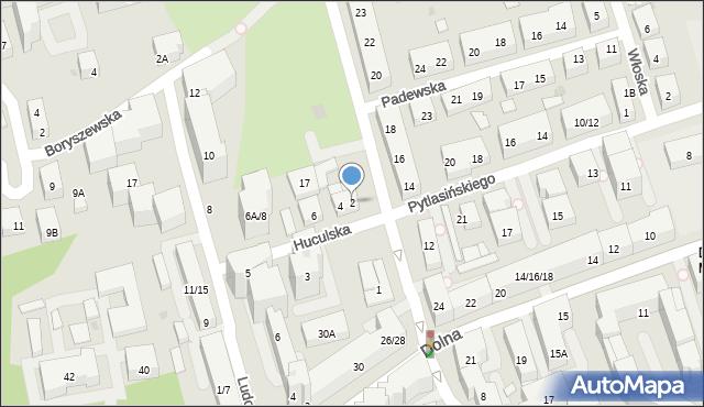 Warszawa, Huculska, 2, mapa Warszawy
