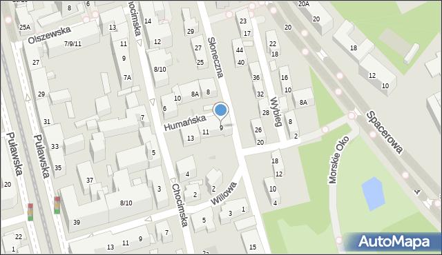 Warszawa, Humańska, 9, mapa Warszawy