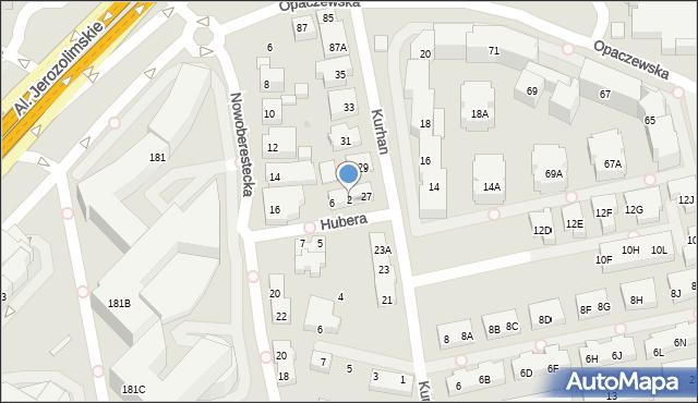 Warszawa, Hubera Maksymiliana Tytusa, 2, mapa Warszawy