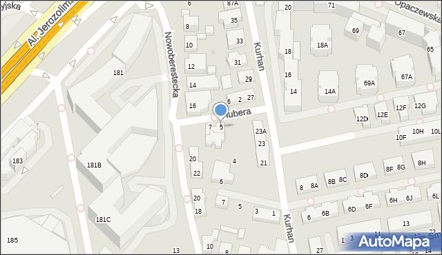 Warszawa, Hubera Maksymiliana Tytusa, 5, mapa Warszawy