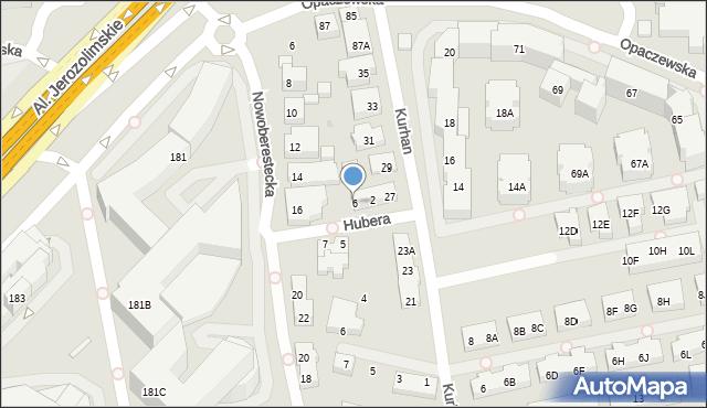 Warszawa, Hubera Maksymiliana Tytusa, 6, mapa Warszawy