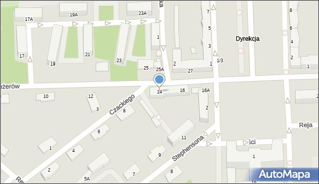 Chełm, I Pułku Szwoleżerów, 14, mapa Chełma