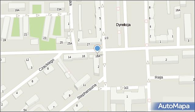 Chełm, I Pułku Szwoleżerów, 16A, mapa Chełma