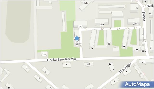 Chełm, I Pułku Szwoleżerów, 17, mapa Chełma