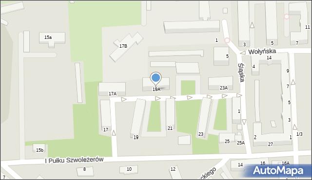 Chełm, I Pułku Szwoleżerów, 19A, mapa Chełma
