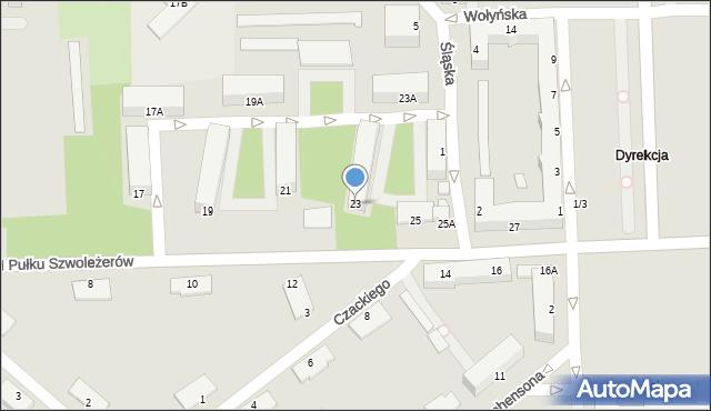 Chełm, I Pułku Szwoleżerów, 23, mapa Chełma