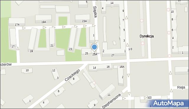Chełm, I Pułku Szwoleżerów, 25A, mapa Chełma