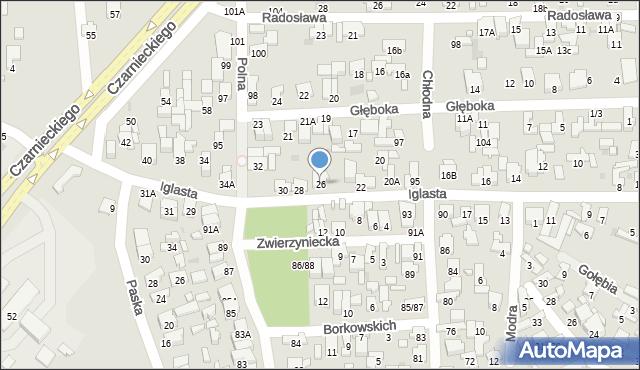 Radom, Iglasta, 26, mapa Radomia