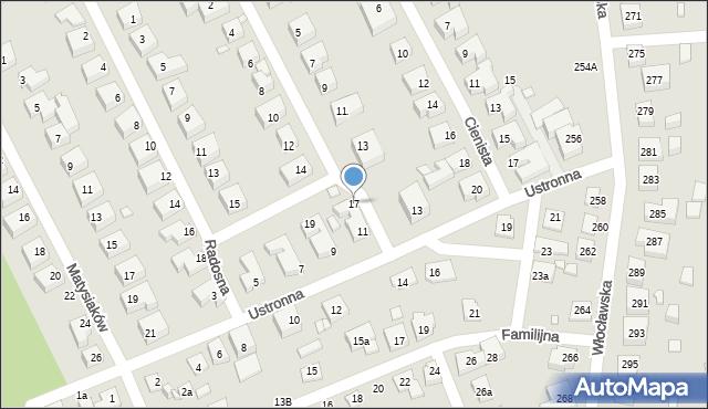 Toruń, Iglasta, 17, mapa Torunia