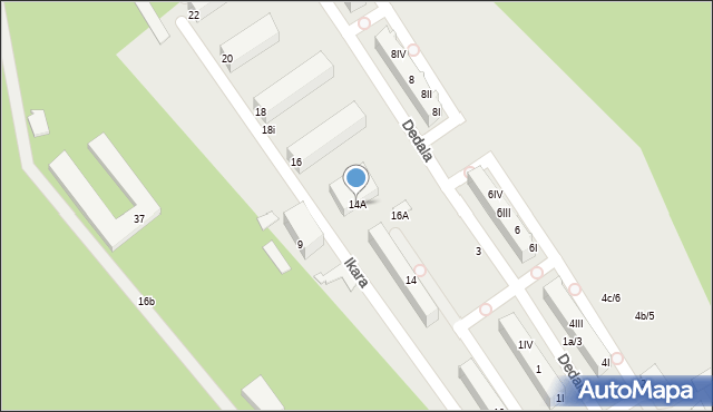 Gdynia, Ikara, 14A, mapa Gdyni