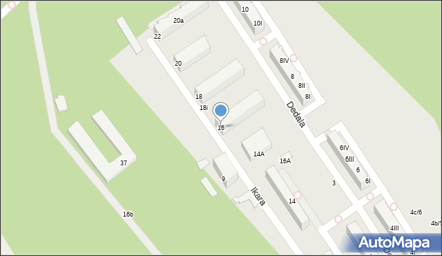 Gdynia, Ikara, 16, mapa Gdyni