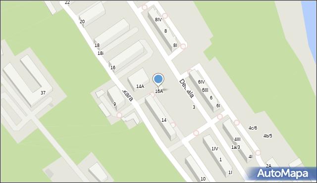 Gdynia, Ikara, 16A, mapa Gdyni
