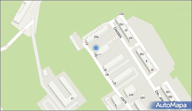 Gdynia, Ikara, 20, mapa Gdyni