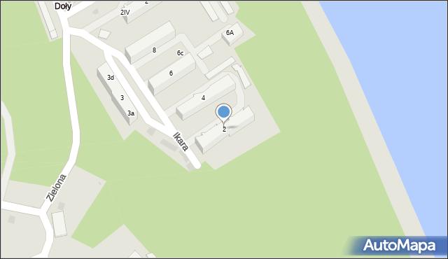 Gdynia, Ikara, 2a/3, mapa Gdyni