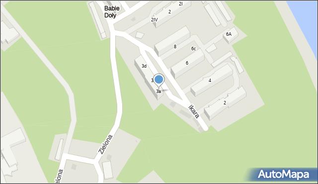 Gdynia, Ikara, 3a/7, mapa Gdyni