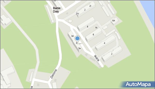 Gdynia, Ikara, 3b, mapa Gdyni