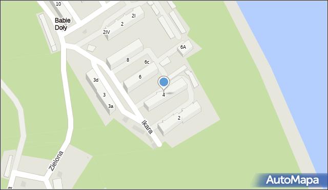 Gdynia, Ikara, 4a, mapa Gdyni