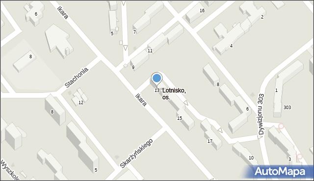 Grudziądz, Ikara, 13, mapa Grudziądza