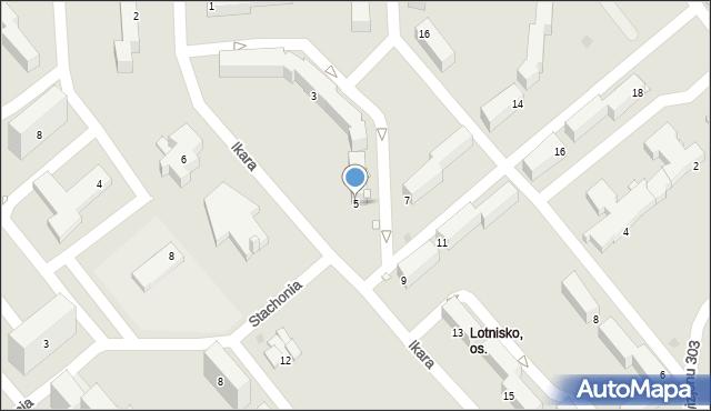 Grudziądz, Ikara, 5, mapa Grudziądza