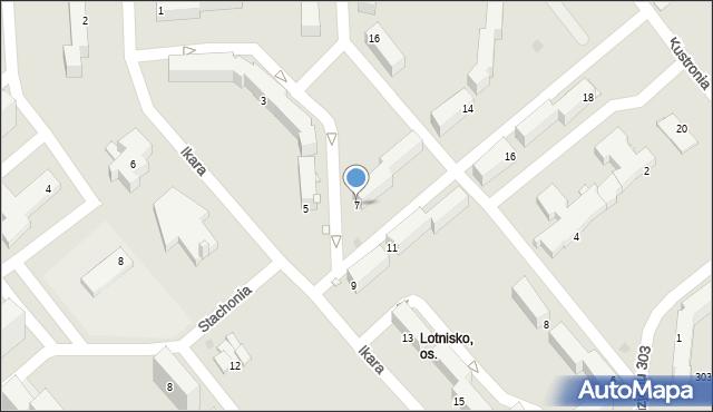 Grudziądz, Ikara, 7, mapa Grudziądza