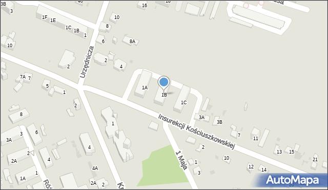 Jaworzno, Insurekcji Kościuszkowskiej, 1B, mapa Jaworzno
